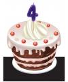 Verjaardags taart kaarsjes 4 jaar