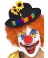 Clowns hoedje met bloemetje