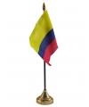 Colombie vlaggetje met standaard