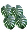 Grote groene palmbladeren 4 stuks 33 cm