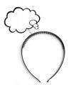 Haarband met denk wolkje