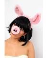Diadeem met varkens oren en neus
