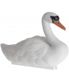 Drijvende witte zwaan reigerverjager