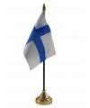 Finland vlaggetje met standaard