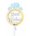Folie ballonnen in de vorm van een trouwring 53 cm