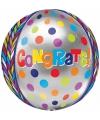 Folie ballonnen gefeliciteerd 40 cm