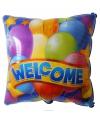 Vierkant welkom thuis folie ballon