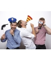 Photo booth props politie thema