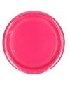 Kartonnen fuchsia roze borden 23 cm
