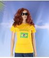 Dames t-shirt met de Braziliaanse vlag