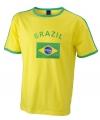 Heren t-shirt met de Brazilie vlag