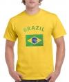 Heren t-shirt met de Braziliaanse vlag