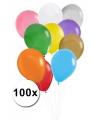 100 gekleurde ballonnen