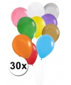 30 stuks ballonnen in verschillende kleuren