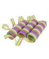 3 rollen gekleurde serpentine