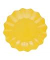 Gele diepe wegwerp bordjes 21 cm