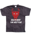 Grappig shirt God Is Busy