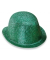 Groen glitter bolhoedje