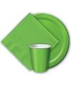 Groene wegwerp bekers 8 stuks