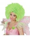 Neon groene pruik voor dames