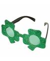 Groene bril met klavertje drie