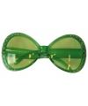 Groene glitter zonnebril