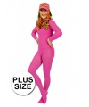 Grote maat maillot roze