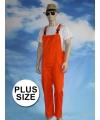 Grote maat oranje tuinbroek voor dames en heren
