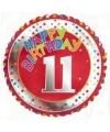 11 jaar helium ballon