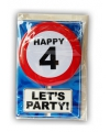 Verjaardagskaart 4 jaar