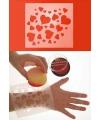 Schmink sjabloon om hartjes te maken