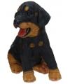 Rottweiler puppy beeldje zittend 23 cm