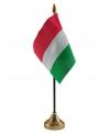 Hongarije vlaggetje met standaard