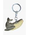 Bultrug walvis sleutelhanger van hout
