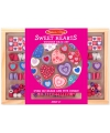 120-delige kralenset van hout Sweet hearts