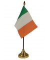 Ierland vlaggetje met standaard