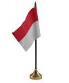 Indonesie vlaggetje met standaard