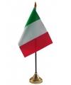 Italie vlaggetje met standaard