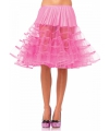 Lange tule onderrok fuchsia roze voor dames