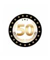 Luxe 50 jarige bierviltjes