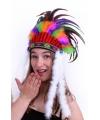 Luxe indianentooi met gekleurde veren