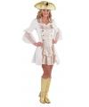 Sexy piraten jurkje in het wit