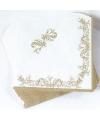 Bruiloft servetten goud 33 cm