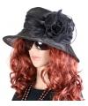 Zwarte Irene dameshoed