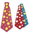 Jumbo stropdas met stippen 50 cm