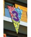 Mega vlag 3e verjaardag 90 x 150 cm