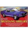 Metalen wand bordje GT500 Shelby