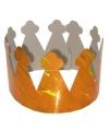 6 stuks oranje kroontjes van karton