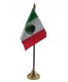 Mexico vlaggetje met standaard