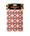 Mini stickers 60 jaar 24 stuks